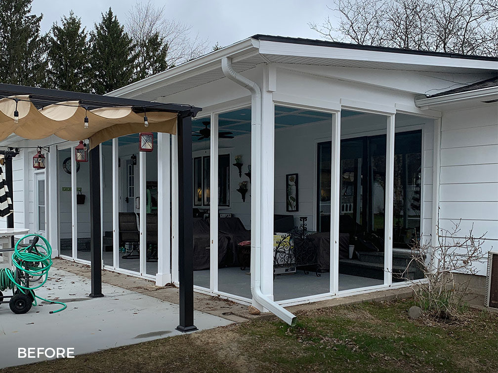 Porch before Sunspace