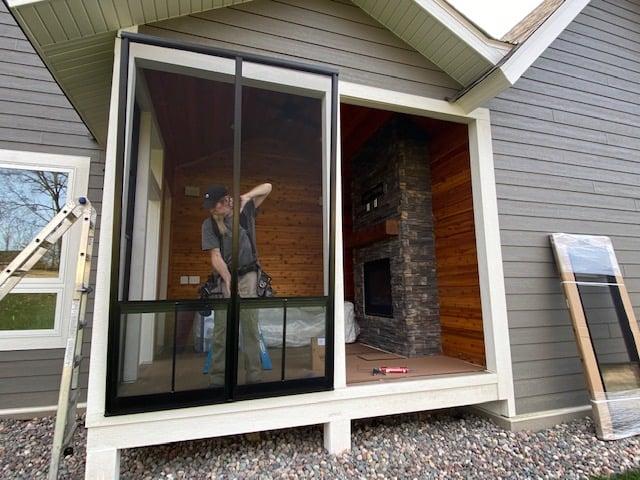 Sunspace Porch Window Installation