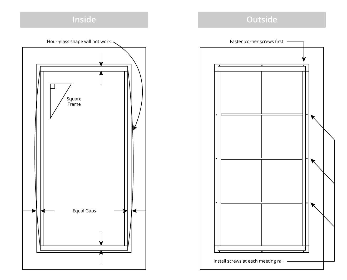 Porch Window Installation Instructions