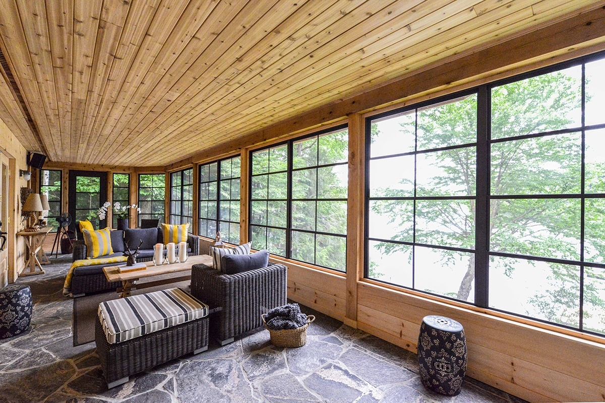 Sunspace Vertical 4-Track Porch Windows Mulled Units