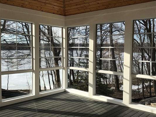 Sunspace glass railing example