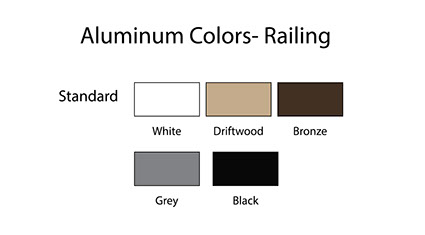 Aluminum Colors Railing