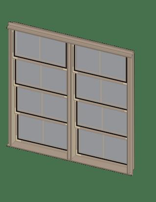 Sunspace Double Window Unit Illustration