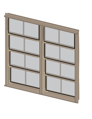 Sunspace Double Window Unit Illustration