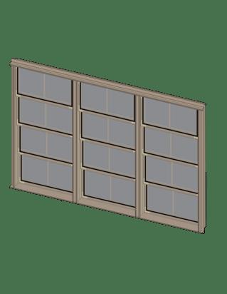 Sunspace Triple Window Unit Illustration